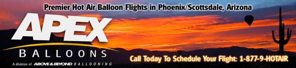 Hot Air Balloon Rides in Phoenix Arizona Scottsdale Glendale Mesa Tempe Gilbert Peoria Chandler AZ